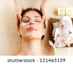 spa face massage. facial... | Shutterstock . vector #121465159