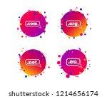 top level internet domain icons.... | Shutterstock .eps vector #1214656174