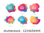 christmas sale. special offer... | Shutterstock .eps vector #1214656444