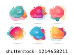timeline liquid shapes. set of... | Shutterstock .eps vector #1214658211