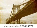 Bridge Of New York City  U.s.a...