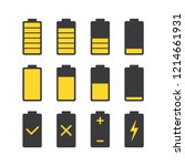 black battery charge collection ...