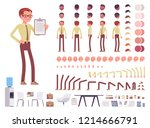male clerk character creation... | Shutterstock .eps vector #1214666791