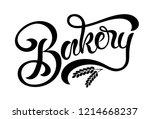 hand sketched bakery lettering... | Shutterstock .eps vector #1214668237