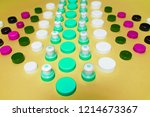 ecology recycling concept. many ... | Shutterstock . vector #1214673367