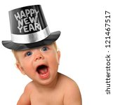Shouting Happy New Year Baby...