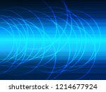 vector design technology  wave... | Shutterstock .eps vector #1214677924
