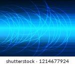 vector design technology  wave... | Shutterstock .eps vector #1214677924