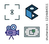 zoom icon set. vector set about ... | Shutterstock .eps vector #1214684311