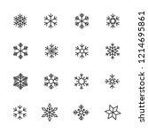 vector image set of snowflake... | Shutterstock .eps vector #1214695861
