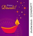 greeting  banner for the indian ... | Shutterstock .eps vector #1214696977