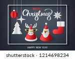 merry christmas and happy new... | Shutterstock .eps vector #1214698234