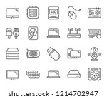 computer components line icons. ...   Shutterstock .eps vector #1214702947