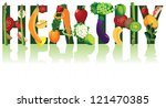 healthy vector fruits and... | Shutterstock .eps vector #121470385