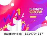 businessman looking for...   Shutterstock .eps vector #1214704117