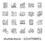 graph line icons. set of chart... | Shutterstock .eps vector #1214708851
