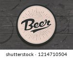 coaster for beer with hand... | Shutterstock .eps vector #1214710504