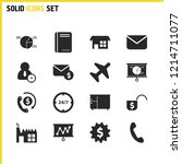 work icons set with business...