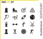 activity icons set with sport...