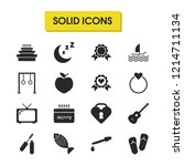 activity icons set with apple ...