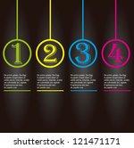 vector paper number background  ... | Shutterstock .eps vector #121471171