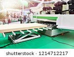 cnc automatic woodworking... | Shutterstock . vector #1214712217
