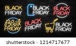 vector set of realistic... | Shutterstock .eps vector #1214717677