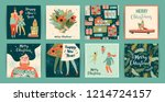 christmas and happy new year... | Shutterstock .eps vector #1214724157