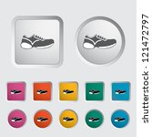 Shoes Icon. Vector Illustration.