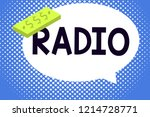 writing note showing radio....   Shutterstock . vector #1214728771