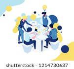 vector business illustration. a ... | Shutterstock .eps vector #1214730637