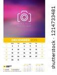 wall calendar planner template... | Shutterstock .eps vector #1214733481