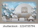 chinese new year 2019. china...   Shutterstock .eps vector #1214735794