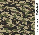 camouflage seamless pattern.... | Shutterstock .eps vector #1214744467