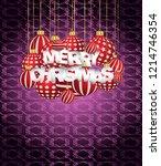 2019 merry christmas seasonal... | Shutterstock .eps vector #1214746354