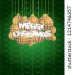 2019 merry christmas seasonal... | Shutterstock .eps vector #1214746357