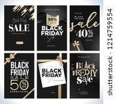 black friday sale. vector...   Shutterstock .eps vector #1214759554