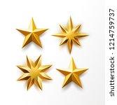 golden star set. vector... | Shutterstock .eps vector #1214759737