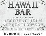 font script typeface vector... | Shutterstock .eps vector #1214762017