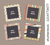 creative photo frames with art... | Shutterstock . vector #1214773477