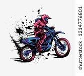 girl motocross vector design...   Shutterstock .eps vector #1214776801