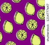 sour lemon pattern | Shutterstock .eps vector #1214777647