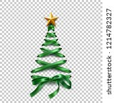 christmas tree made of lace up... | Shutterstock .eps vector #1214782327
