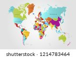 world map vector | Shutterstock .eps vector #1214783464