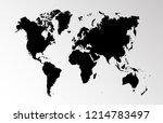 world map vector | Shutterstock .eps vector #1214783497