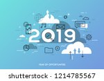 infographic concept  2019  ... | Shutterstock .eps vector #1214785567