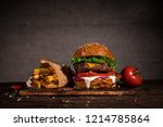 close up of home made tasty... | Shutterstock . vector #1214785864