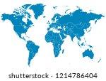 color world map vector | Shutterstock .eps vector #1214786404