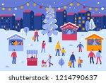 vector illustration in flat... | Shutterstock .eps vector #1214790637