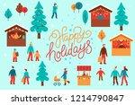 vector illustration in flat... | Shutterstock .eps vector #1214790847